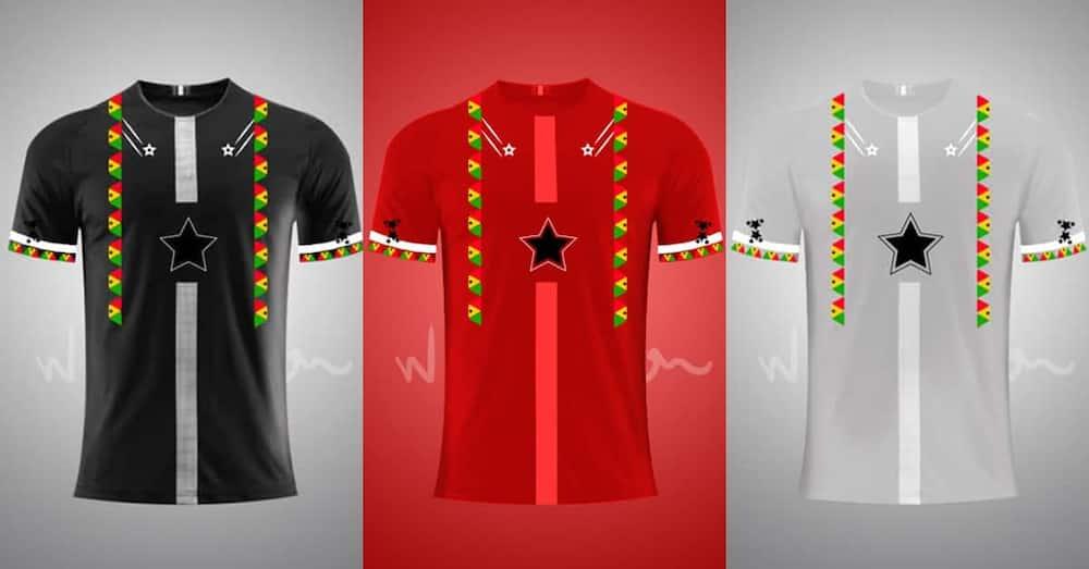 Ghanaian designer creates beautiful Black Stars jerseys ahead of AFCON & World Cup