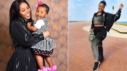 """""""Best auntie"""": Beautiful Sbahle Mpisane drops cute picture with lovely niece"""