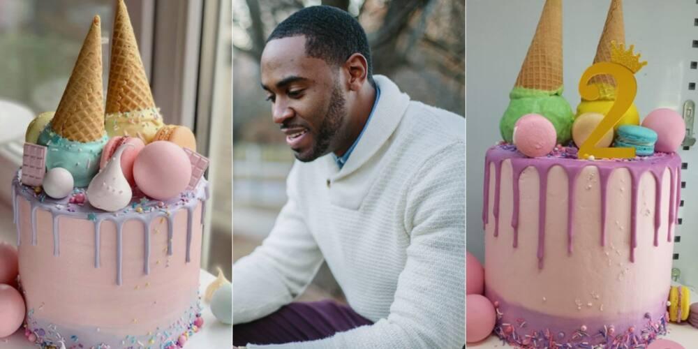 Baker, cake, ice cream cake