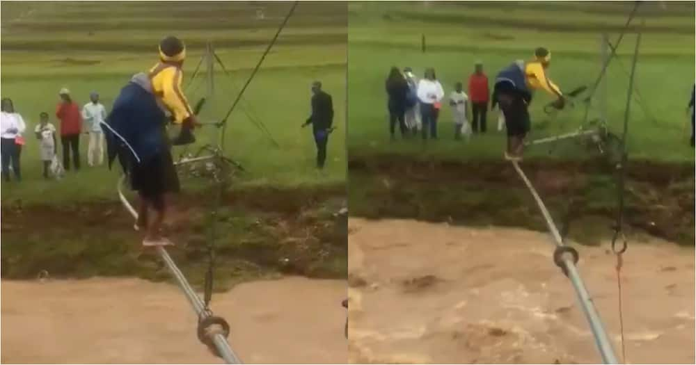 ANC dragged after clip of woman crossing river goes viral