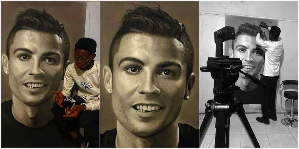 Mayor Olajide spends 75 hours drawing Cristiano Ronaldo