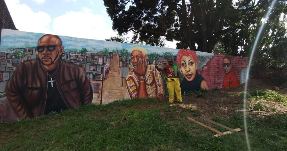 Wall of Legends: Rasta Finishes Latest Project, Gets Mixed Reactions