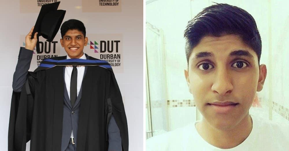 Hardworking young man graduates Cum Laude, mom biggest motivator