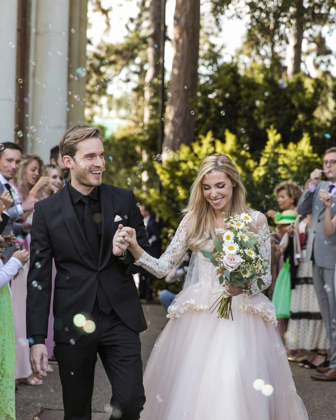 Popular YouTuber PewDiePie marries the love of his life
