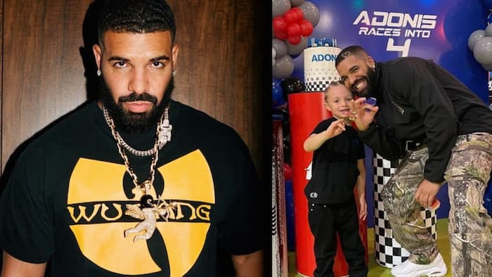 Drake throws race car themed birthday party for young son Adonis