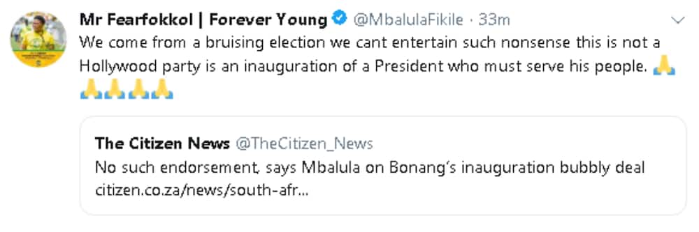 Mbalula: There's no endorsement on Bonang's inauguration bubbly deal