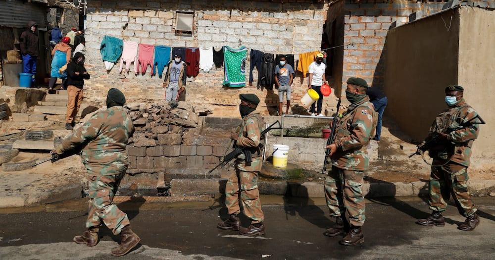 SANDF, 70 000 soldiers, deployment, KwaZulu-Natal, Gauteng, unrest, violent protest