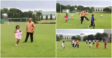 Jacob Zuma shares video of himself playing soccer on Twitter