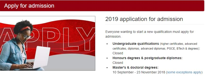 UNISA Application Dates, Status, Fees and Process 2019 ▷ Briefly SA
