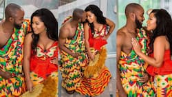 Couple stuns with matching traditional outfits at wedding ceremony