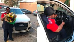 Beautiful moment caught on camera: Woman surprises her mom with a car