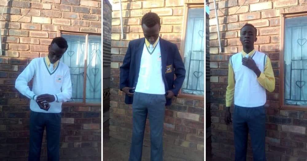 Grateful teen thanks 2 strangers for buying his matric uniform