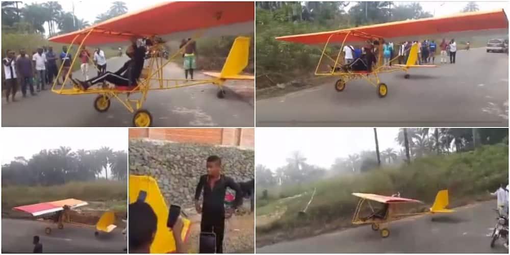 Kenneth Akobundu: 19-year-old Nigerian boy builds motorbike that looks like helicopter