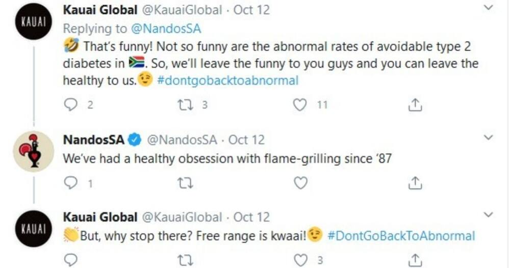 Nando's and new competitor exchange blows online, Mzansi reacts