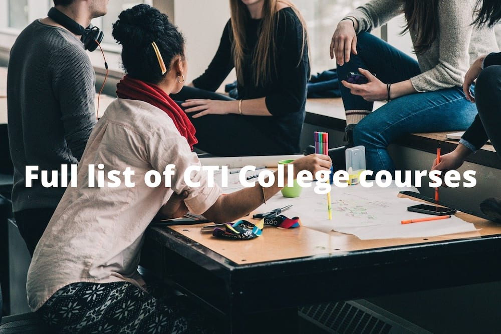 Available CTI College courses