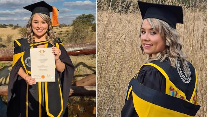 """""""Well done"""": Mzansi delighted for young woman who bagged Master's of Science"""