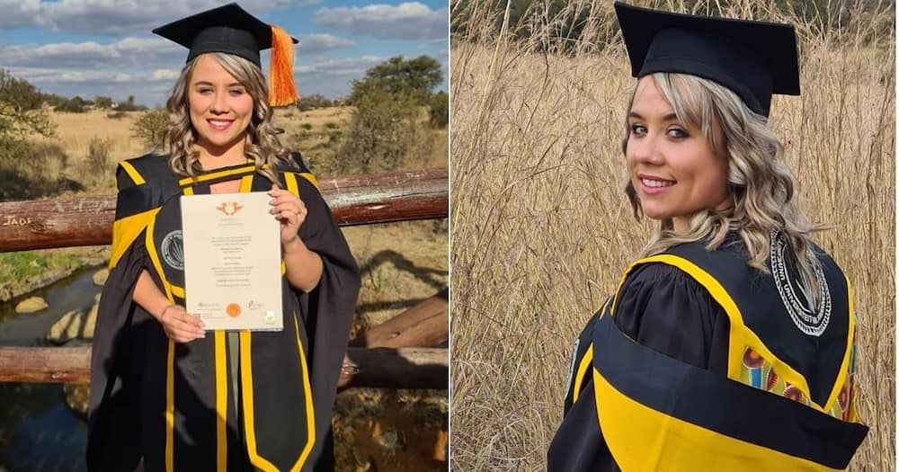 Chanel Pretorius has just graduated from the University of Johannesburg with a Masters of Science qualification. Image: @ChanelPretorius/Facebook