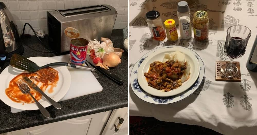 """Mboweni's cooking roasted, again: """"Another pilchards stew gone wrong"""""""