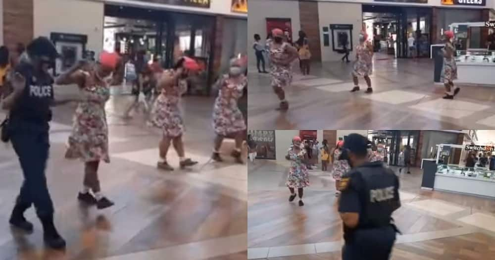 Police officer joins traditional dance