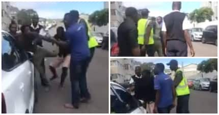 Video shows South Africans stopping armed thug from robbing tourist