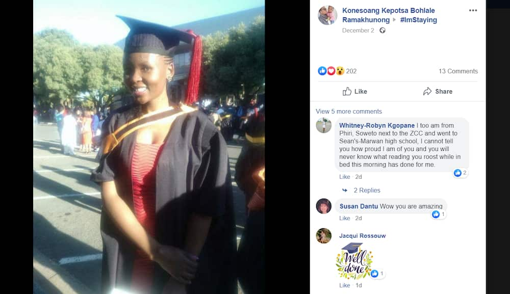 A story of hope: Lady finally graduates after 10 years of study