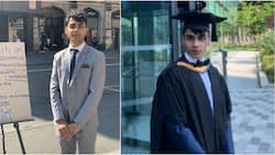 Manchester University graduate takes to the street in suit to beg for a job