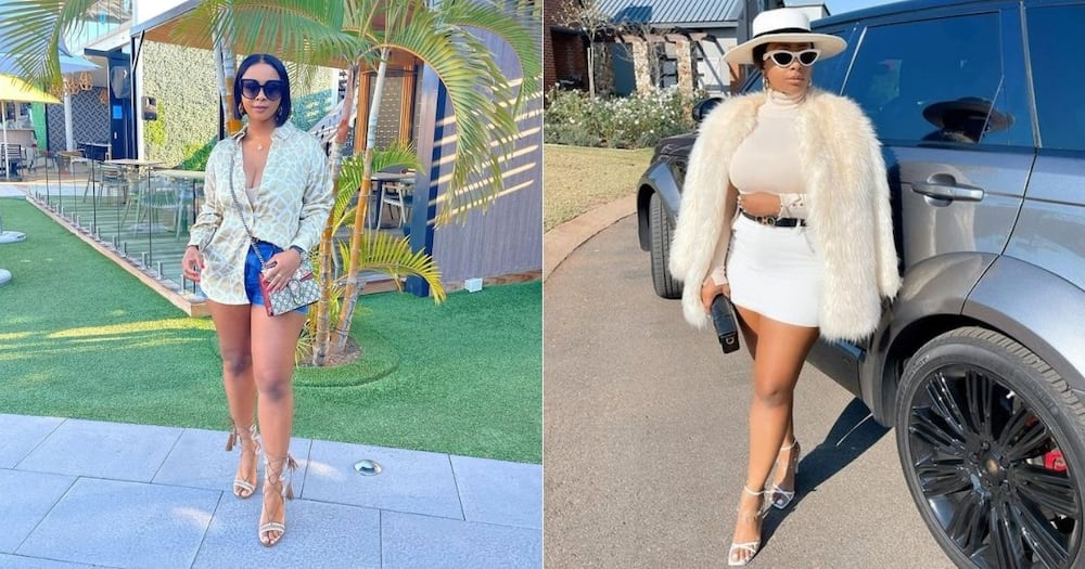Boity, shows love, past self, throwback pic