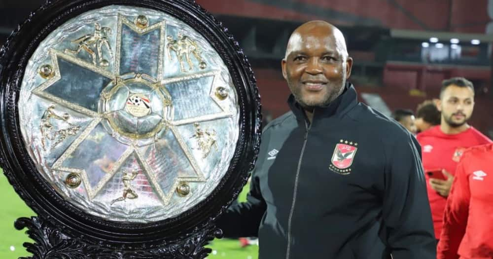 Pitso Mosimane gets real about the pressure of coaching Al Ahly since leaving Mamelodi Sundowns.