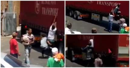 Twitter enraged as video shows locals looting delivery truck in Mitchell's Plain