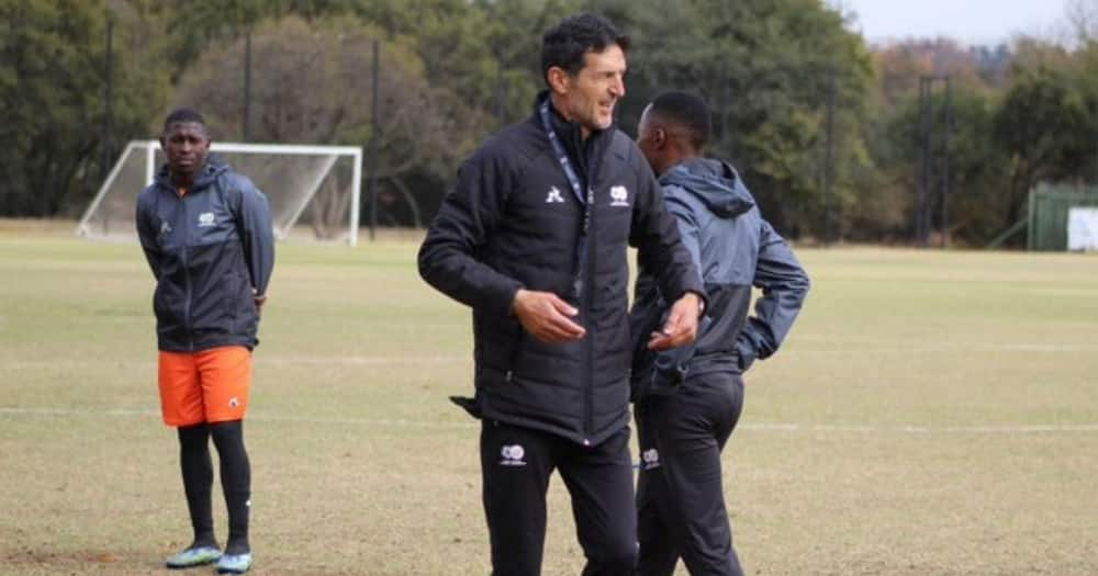 The South African Football Association has announced Bafana assistant coach Janevski Cedomir has tested positive. Image: @BafanaBafana/Twitter