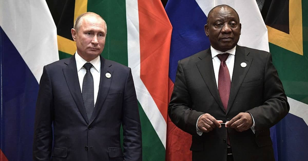 Photo of President Cyril Ramaphosa snoozing in Russia goes viral