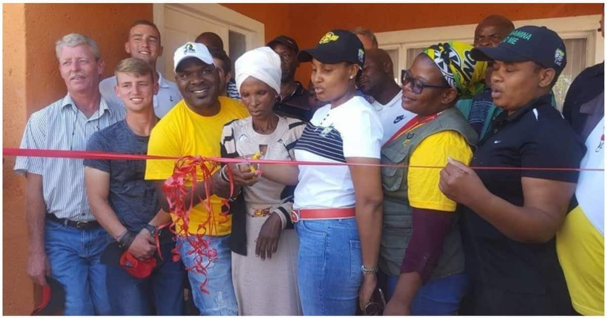 65-year-old gogo gets new house 2 years after fire gutted her home