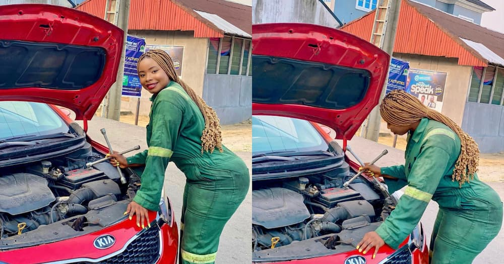 Fail: Lady raises eyebrows with questionable mechanic pics