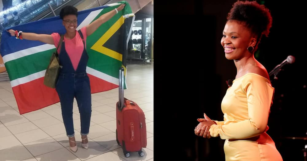 Young lady represents SA in Belize
