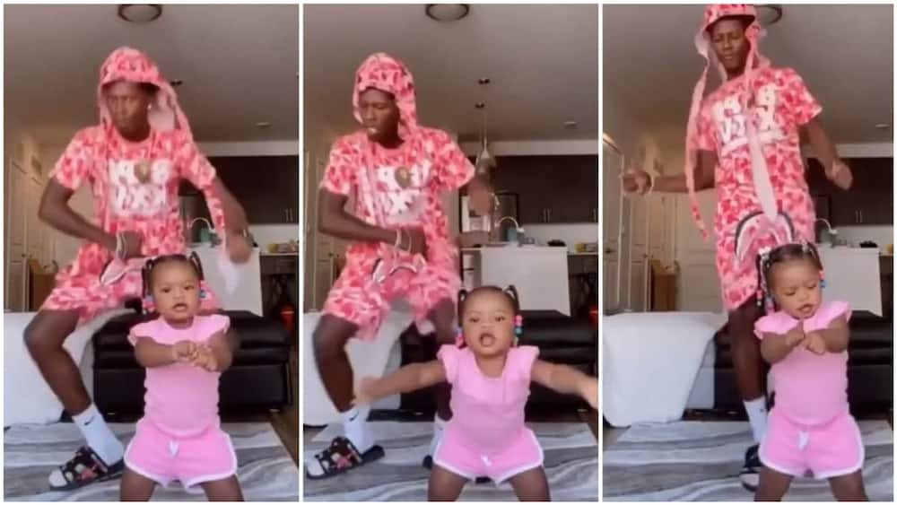 The little baby showed her best dance moves. Photo source: Instagram/theshaderoom