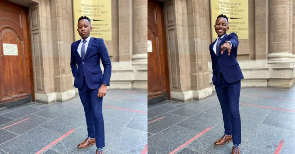 Proud Young SA Man Celebrate Getting Admitted as a Legal Practitioner