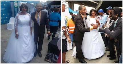 Love in the air as homeless Cape Town couple have colourful wedding