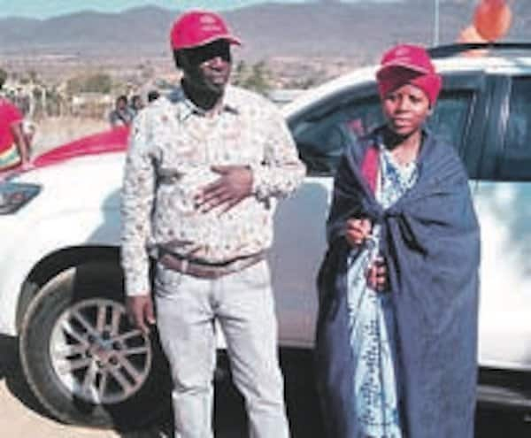 Matshoboko Makola pictured with his daughter and her brand new Toyota Fortuner. Source: Daily Sun/Judas Sekwela