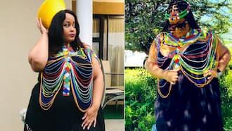 Stunning Mzansi woman shares pics proudly flexing her heritage: 'Waze wamuhle'
