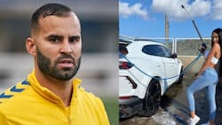 Ex-Premier League star denies claims girlfriend ran him over with a car after argument