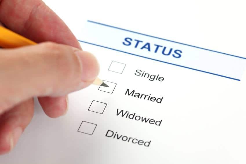 Online marital status