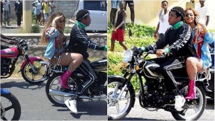 Beyonce and Jay-Z spotted in Africa: Couple take a cruise on a motorcycle