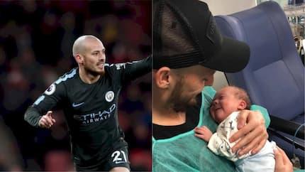 David Silva celebrates Premier League title triumph with son