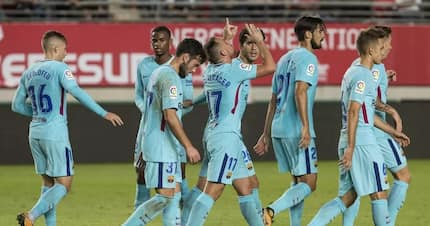 Barcelona leave Real Murcia dressing room in an absolute mess