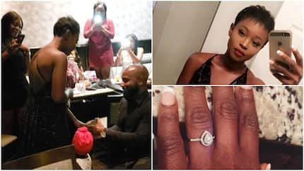 Man proposes to girlfriend in presence of her dad, friends and family